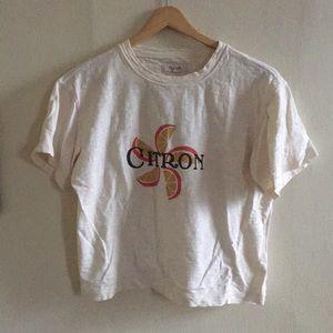 Madewell boxy cropped Citron t shirt XS